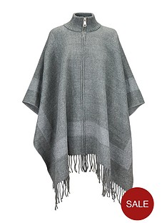 v-by-very-zip-front-ribbed-neck-cape