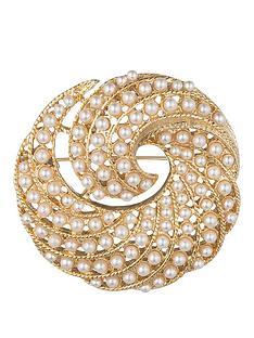 anne-klein-gold-tone-pearl-swirl-brooch