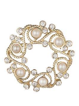 anne-klein-gold-tone-pearl-wreath-brooch