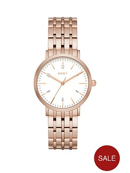 dkny-dkny-minetta-white-dial-36mm-casestainless-steel-rose-tone-bracelet-ladies-watch