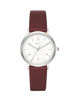 dkny-dkny-minetta-white-dial-wine-leather-strap-ladies-watch
