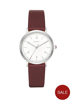 dkny-dkny-minetta-white-dial-wine-leather-strap-ladies-watch