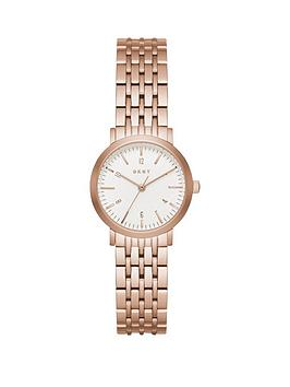 dkny-dkny-minetta-white-dial-28mm-casestainless-steel-rose-tone-bracelet-ladies-watch