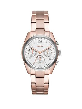 dkny-dkny-crosby-white-dial-rose-gold-tone-stainless-steel-ladies-watch