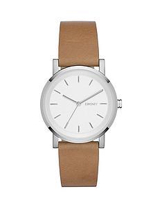dkny-dkny-soho-white-dial-tan-leather-strap-ladies-watch