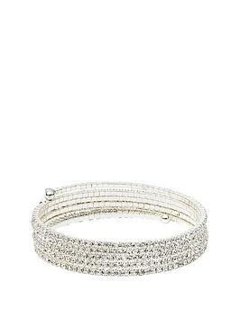 anne-klein-silver-tone-diamante-coil-bracelet