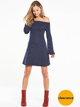 v-by-very-bardot-polka-dot-swing-dress