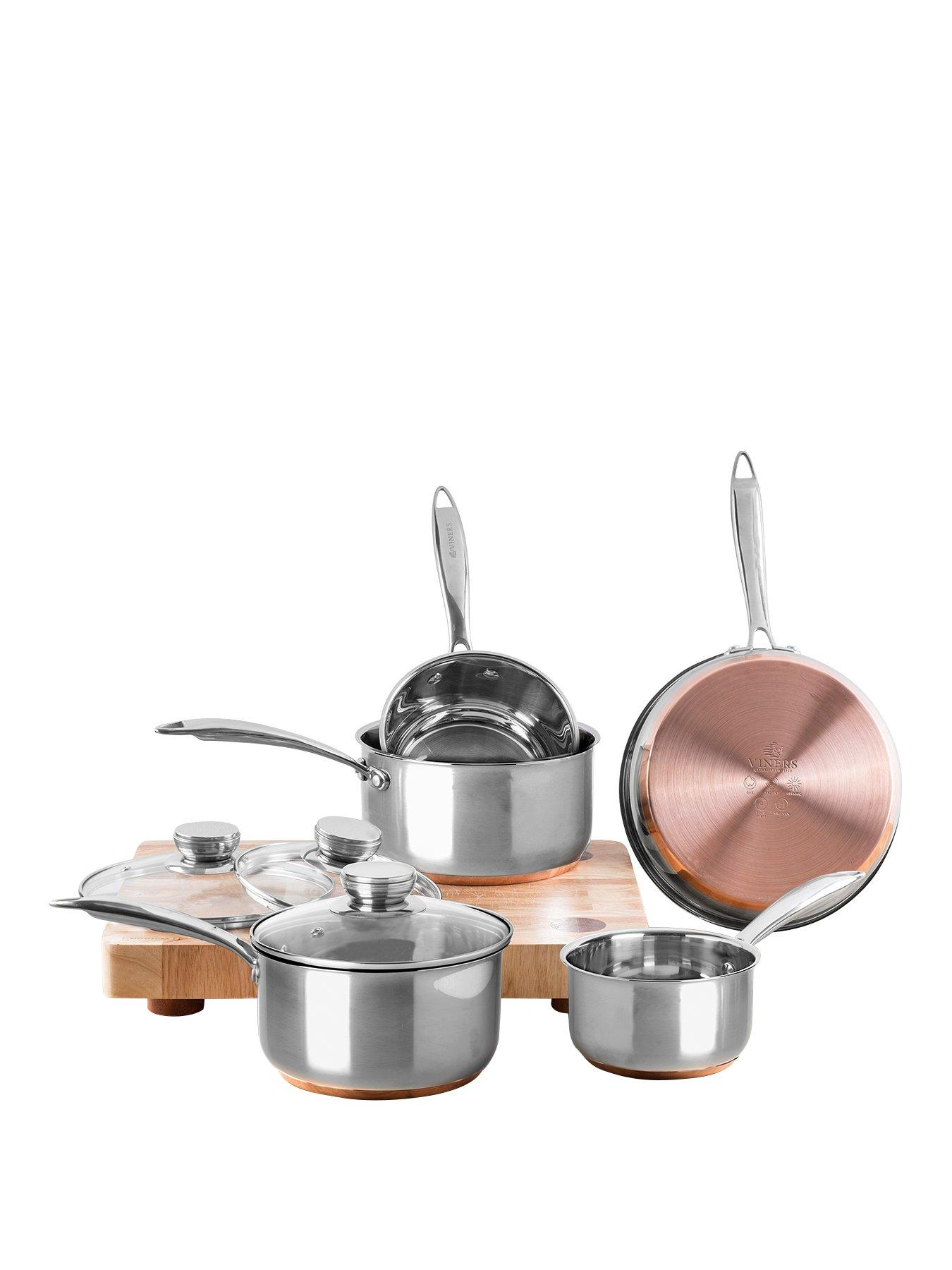 5-Piece Viners Stainless Steel Copper Base Pan Set
