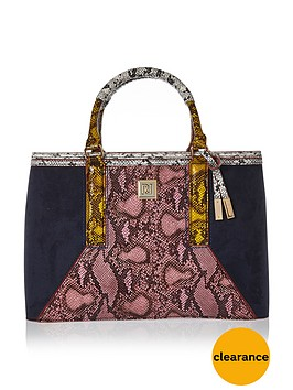 river-island-snake-print-structured-tote