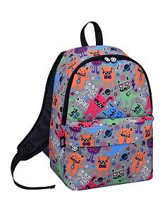 david-goliath-all-over-monster-print-grey-backpack