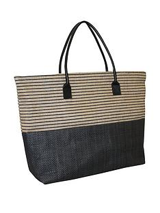 kangol-black-stripe-shopper