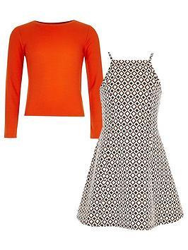 river-island-girls-jacquard-dress-and-long-sleeve-t-shirt-set