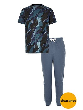 river-island-boys-blue-camouflage-pyjama-set