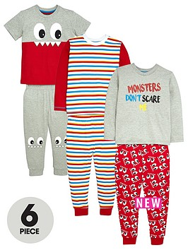mini-v-by-very-boys-cheeky-monster-pyjamas-6-piece