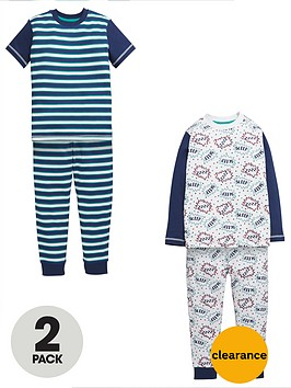 mini-v-by-very-boys-comic-stripe-pyjamas-2-pack