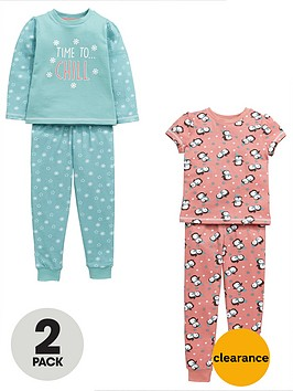 mini-v-by-very-girls-time-to-chill-penguin-pyjamas-2-pack