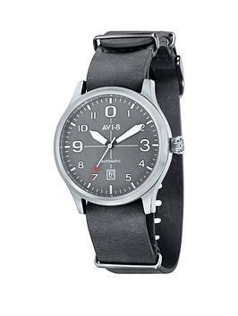 avi-8-avi-8-flyboy-grey-dial-grey-leather-nato-strap-mens-watch