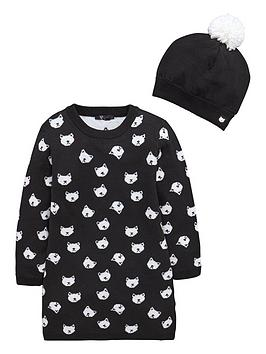 mini-v-by-very-girls-black-cat-knitted-dress-and-beanie