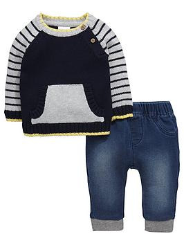 ladybird-baby-boys-knitted-jumper-and-jeans-set