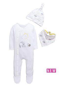 ladybird-baby-unisex-3pc-sleepsuit-hat-and-bib-gift-set