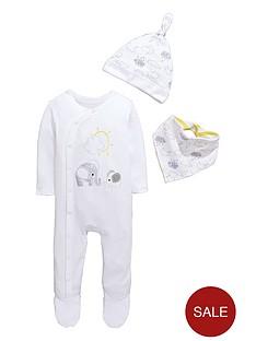ladybird-baby-unisex-sleepsuit-hat-and-bib-gift-set-3-piece
