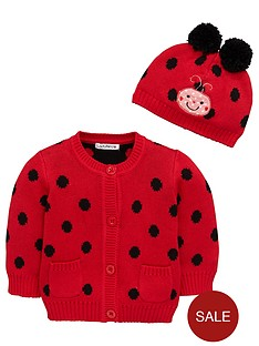ladybird-baby-girls-knitted-cardigan-and-pomnbsppomnbsphat