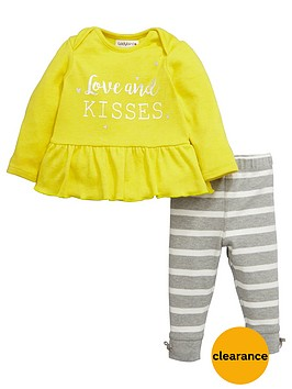 ladybird-babynbspgirls-love-and-kisses-top-and-leggings-set