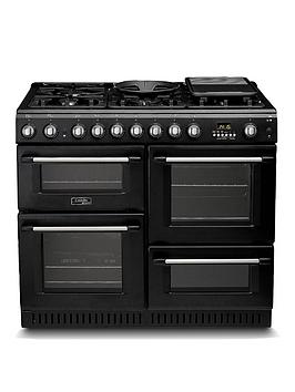 Cannon By Hotpoint Ch10456Gfs 100Cm Dual Fuel Range Cooker And Gas Hob With Fsd - Black