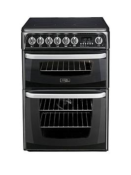 Cannon By Hotpoint Ch60Ekk 60Cm Double Oven Electric Cooker With Ceramic Hob - Black Best Price, Cheapest Prices