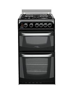 cannon-ch50gcik-50cm-twin-cavity-gas-oven-with-gas-hob-black
