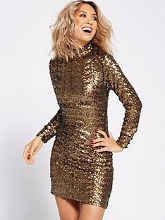 myleene-klass-all-over-sequin-shift-dress-gold