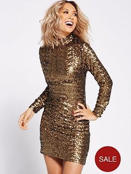 myleene-klass-all-over-sequin-shift-dress-gold