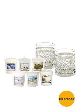 yankee-candle-matrix-brushed-silver-votive-holders-and-set-of-6-votives