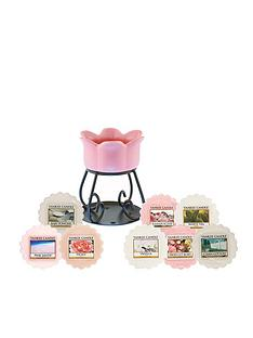 yankee-candle-pink-petal-bowl-melt-set-with-8-wax-melts