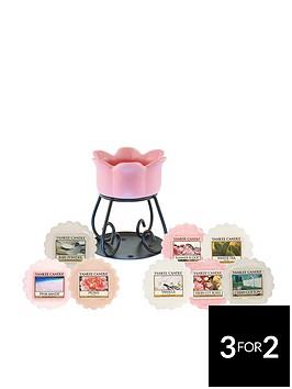 yankee-candle-pink-petal-bowl-melt-set-with-8-wax-melts