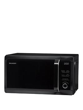 sharp-r664km-20l-tc-grill-microwave-black