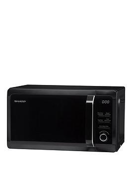 sharp-r664km-20l-tc-grill-microwave-black