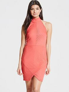 girls-on-film-girls-on-film-coral-halter-neck-dress-with-wrap-skirt