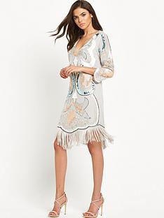 maya-maya-embellished-plunge-front-tassle-mini-dress