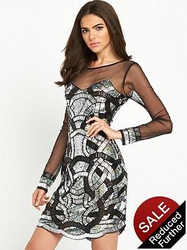 maya-sheer-long-sleeve-embellished-mini-dress-black