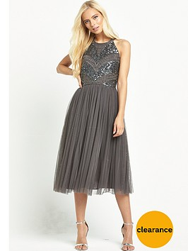 maya-high-neck-embellished-body-dress-grey