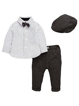 ladybird-baby-boys-4pc-cap-bowtie-shirt-and-trouser-set