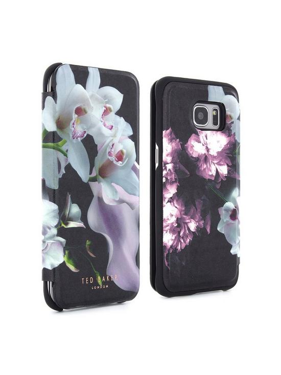 edabc54422eecd ... Ted Baker Ethereal Posie Mirror Folio Case (Samsung Galaxy S7 Edge) - Mariel  Black. View larger
