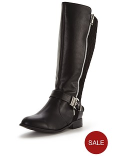 so-fabulous-arleene-extra-wide-fit-buckle-detail-knee-boot-black