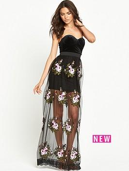 rare-rare-limited-edition-floor-length-maxi-rose-dress
