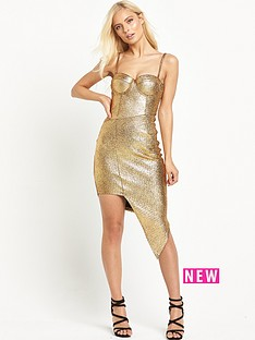rare-metallic-asymetric-dress