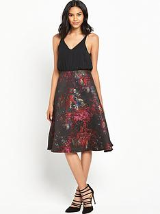ax-paris-2-in-1-midi-printed-dress