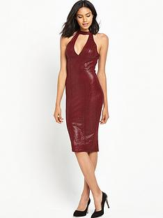 ax-paris-high-neck-midi-bodycon-dress-red
