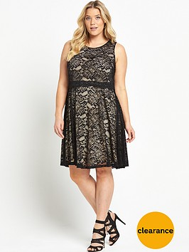 v-by-very-curve-double-layer-dress-blacknude