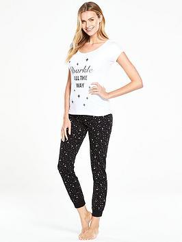 v-by-very-sparkle-all-the-way-short-sleeved-pyjama-set